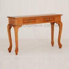 Hall Table, W120xD35xH76cm, Light Pecan, Timber Table, Brown, 2 Drawers.