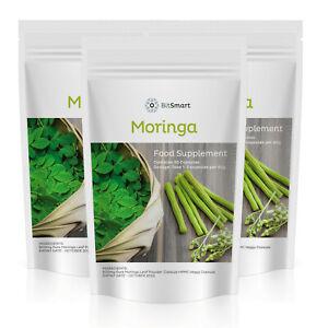 Organic Moringa 600mg - 30 Capsules Rich in Vitamin C Superfood - Vegan UK