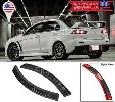 For Lancer EVO 10 X Black Mesh PP Front Fender Side Vent Grill Cover For Lancer