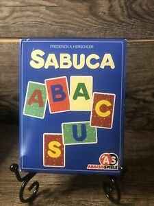 German Language Sabuca Card Game Herschler Abacus Spiele 1999 Rummy With Letters