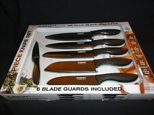 Knife Set - Classic Metallic Black Stainless 6-Piece Knife Set, by Cuisinart