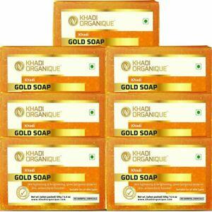 Khadi Organique Natural Herbal Gold Soap Pack of 7