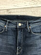 Mother The Mid Rise Dazzler On The Edge Jeans, Dark Blue Wash Size 25