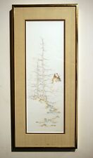 Vintage limited edition engraving landscape mountain minimalist signed framed
