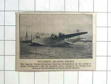 1937 Imperial Airways Flying Boat Caledonia Arrives At Hythe From Botwood