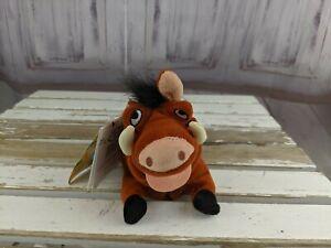 Disney store lion king pumbaa pig bore bean bag sound beanie plush toy