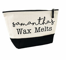 Personalised Canvas Wax Supply Organiser Printed with ANY NAME Black Inner W544L