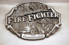 Old Vintage AMERICAN FIRE FIGHTER 1989 Arroyo Belt Buckle 398 of 5000 Limited