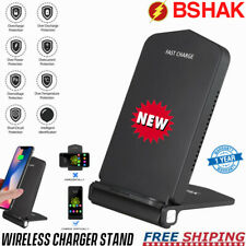 Foldable Fast Wireless Charger Stand Mobile Charging Pad with Cooling Function
