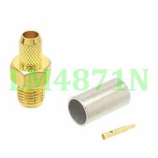 1pce Connector RP.SMA female plug crimp RG58 RG142 LMR195 RG400 cable straight