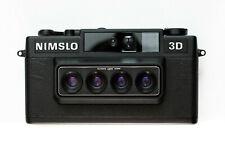 Nimslo 3D Quadra Lens 35mm Camera, Batteries, Box Tested ELNC