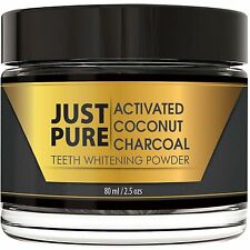 Teeth Whitening Activated Coconut Charcoal Powder Natural Plus Organic 80ml