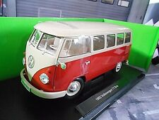 VOLKSWAGEN VW Bulli T1 Bus Classic Bus red rot creme 1963 Welly 1:18