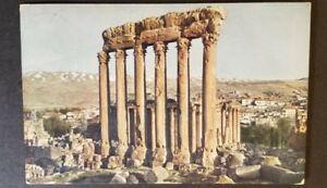 1913 Smyrna Turkey Ottoman Empire to New York Bacchus Temple RPPC Postcard Cover