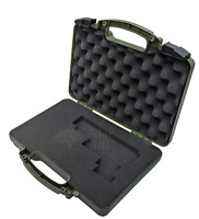 OD GREEN Pluck & Foam Pistol Case Hard Lockable Airline TSA Approved CMFF - XL