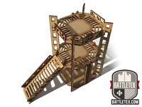 Industrial Tower D -  2 Level Rig Platform - Wargaming Necromunda Warhammer 40k