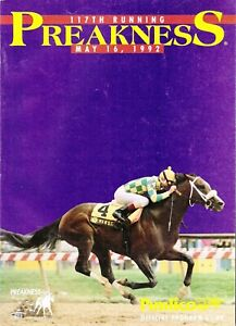 1992 - 117th Preakness Stakes program - PINE BLUFF - MINT