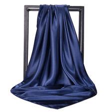 90*90cm Square Scarf Wrap Large Satin Silk Muslim Hijab Head Scarves Luxury Gift