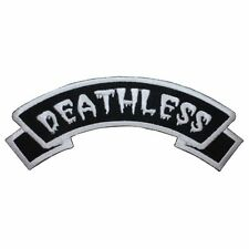 """""""Deathless"""" Name Tag Horror Dead Kreepsville Embroidered Iron On Applique Patch"""