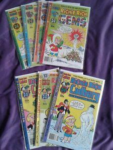 Richie Rich Harvey Comic Lot Of 7 (Gems ,Cadbury )