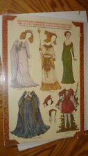Old Fashioned Embossed Shakespeare Characters Paper Doll and Costume Sheet 1979