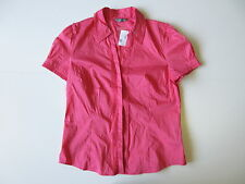 Women's JACQUI E Sz 14 AU Short Sleeve Shirt Pink Brand New | 3+ Extra 10% Off