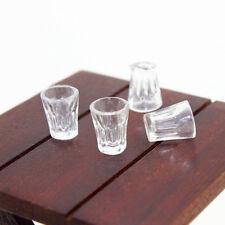 FM- 6Pcs Dollhouse Miniature Clear Beer Mug Cup Kitchen 1:12 Kids Toy Gift Strik