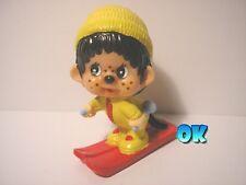 MON CICCI 1979 SCIATORE - personaggio pvc 6 cm (04) Monchhichis Chicaboo Kiki
