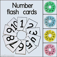 Educational number flash cards 1-10/20/50/100 For school classroom or homeschool