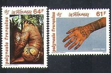 French Polynesia 1992 Tattoos/Art/Design/Decoration/People/Tattoo 2v set n37502