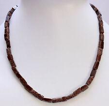 AVENTURINA VERDE MARRÓN OSCURO Cadena Collar de piedras preciosas,45cm Largos,