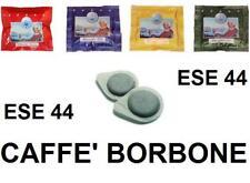 150 CIALDE CARTA CAFFè BORBONE ESE 44MM A SCELTA: BLU ORO ROSSO NERO FROG MOKONA