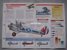Aircraft of the World Card 32 , Group 14 - Bristol Bulldog