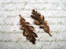 Small Antiqued Brass Oak Leaf Stampings (2) - ANTS2989 Jewelry Finding