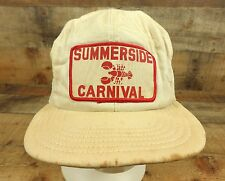 Summerside Lobster Carnival Hat Cap Canada Snapback Trucker White Distressed Vtg