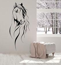 Vinyl Wall Decal Horse Head Pet Animal Art Decor Stickers (1393ig)