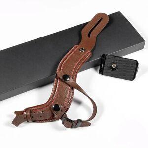 DSLR Camera Leather Wrist Strap Portable Belt for Canon Nikon Sony Leica Fuji