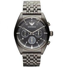 Nuevo EMPORIO ARMANI reloj con cronógrafo para hombre Gris Retro IP-AR0374-RRP £ 299
