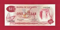 SCARCE 1983 ONE 1 DOLLAR GUYANA UNC NOTE (P-21e) Sign: P. Matthews & H.D. Hoyte