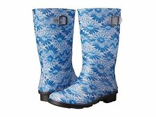 Kamik Daisies  Blue Floral Rain Boots  100% Waterproof  Youth Girls Size 5