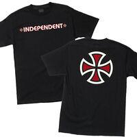 Independent Bar and Iron Cross Logo Skateboard Tee T-shirt Black M L XL XXL