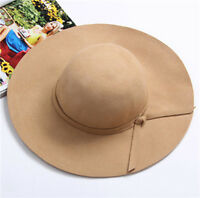 Ladies Women Summer Wide Large Brim Straw Sun Beach Floppy Folding Derby Cap Hat