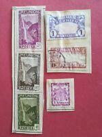 lot N°165 - 6 timbre - Réunion : 1 blason 3 Cascades salazie