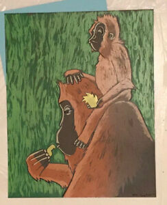 2009 Lela Bell Art Print MOTHER and CHILD #5 Print Mint S/N