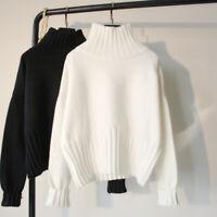Turtleneck Women Jacket Mink Top Cashmere Coat Oversized Pullover Sweater Loose