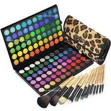 120 Makeup Cosmetic Shimmer MATTE Eyeshadow Palette w 12 Makeup Brush #89A#177L