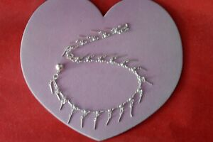 """Silver Anklet With Stars And Dolphins  5 Gr. 10"""" Inches Long In Gift Box"""
