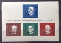 BRD Briefmarken Block 4, 1. Todestag von Konrad Adenauer am 19.4.1968 postfrisch