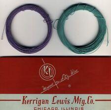Bobines de fil de Litz 50 x 0,05 mm - 2 x 20 mètres Vert et Violet