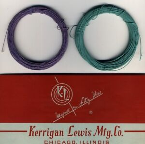 Wire Litz 50 x 0.002in - Length 131 3/12ft Green And Purple